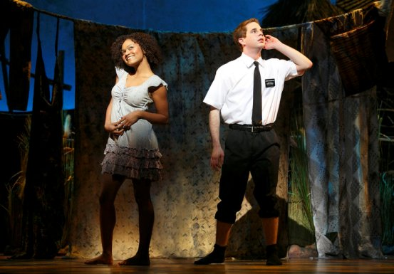 Syesha Mercado (left) and Ben Platt in Book of Mormon Chicago
